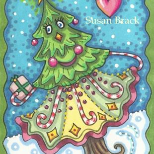 Art: DANCING CHRISTMAS TREE by Artist Susan Brack