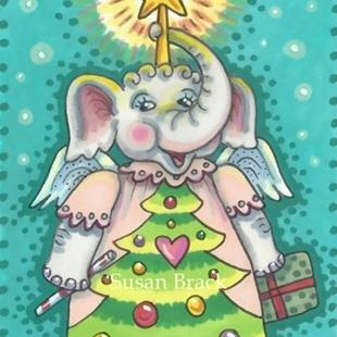 Art: ELLIE'S CHRISTMAS PLAY by Artist Susan Brack
