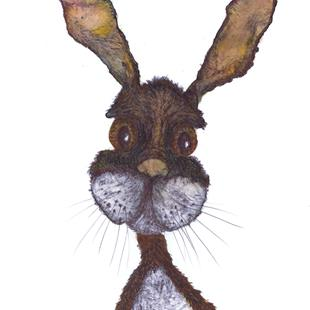 Art: WAITING HARE h3401 by Artist Dawn Barker