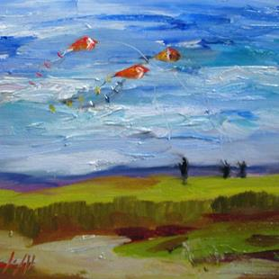 Art: Flying Kites-sold by Artist Delilah Smith