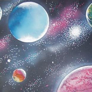 Art: Planets Galore by Leonard G. Collins by Artist Leonard G. Collins