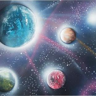 Art: Planets and Stars by Leonard G. Collins by Artist Leonard G. Collins
