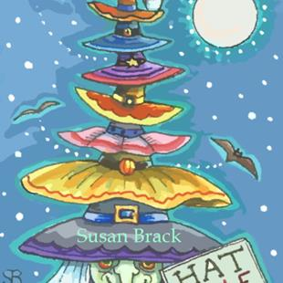 Art: BATS AND HATS by Artist Susan Brack