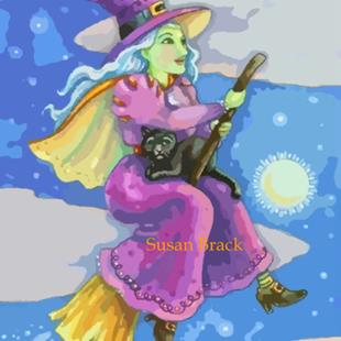 Art: BROOMSTICK RISING by Artist Susan Brack