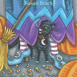 Art: CANDY CORN CLEAN UP by Artist Susan Brack
