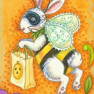 Art: BUZZ BUNNY BEE Trick Or Treat by Artist Susan Brack