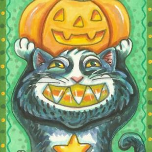 Art: CANDY CORN SMILE by Artist Susan Brack