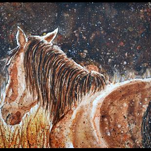 Art: Autumn Mustang by Artist Melinda Dalke
