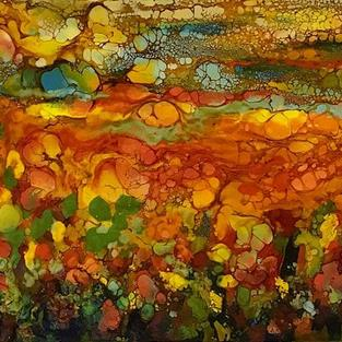 Art: Abstract Landscape - sold by Artist Ulrike 'Ricky' Martin