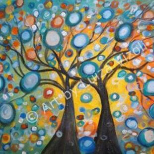 Art: Summer Wishes Olive Tree by Artist LUIZA VIZOLI
