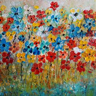 Art: Field of Daisies by Artist LUIZA VIZOLI