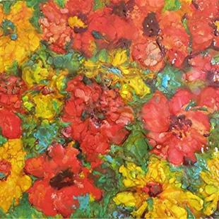 Art: FLOWERS OF SUMMER - sold by Artist Ulrike 'Ricky' Martin