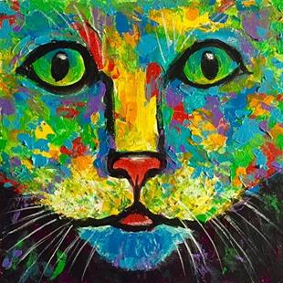 Art: Cat Portrait   sold by Artist Ulrike 'Ricky' Martin