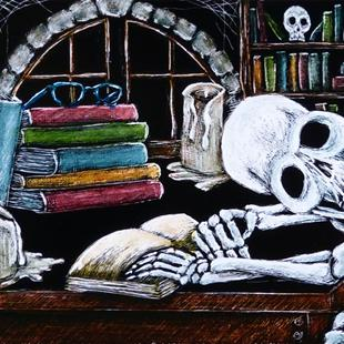 Art: Studied to Death  (SOLD) by Artist Monique Morin Matson