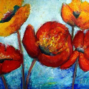 Art: Poppies Serenade by Artist LUIZA VIZOLI