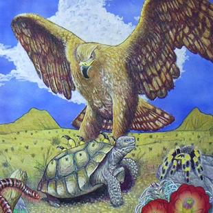 Art: The Tortoise and The Eagle-Aesop's Fable by Artist Rob Robie