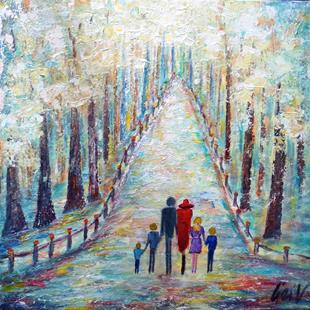 Art: A WALK IN THE PARK by Artist LUIZA VIZOLI