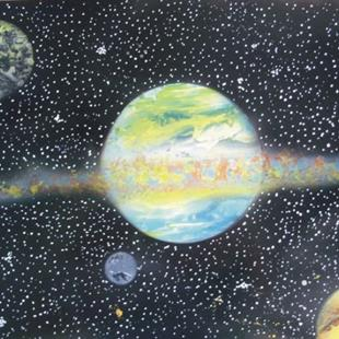 Art: Planet painting by Leonard G. Collins by Artist Leonard G. Collins