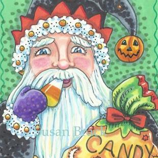 Art: HAPPY HALLOMAS BELSNICKLE by Artist Susan Brack