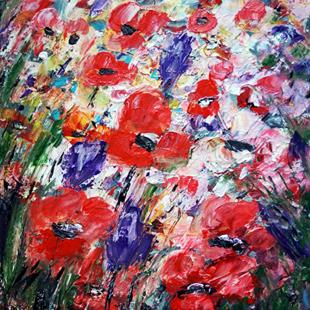 Art: POPPIES FLORAL by Artist LUIZA VIZOLI