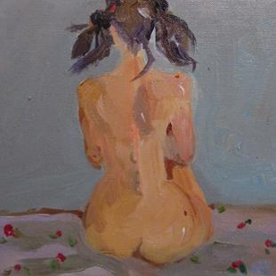 Art: Nude on Bed by Artist Delilah Smith