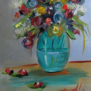 Art: Floral Still Life No. 4 by Artist Delilah Smith