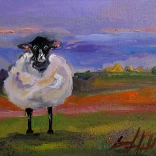 Art: Fat and Fuzzy Sheep by Artist Delilah Smith