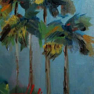 Art: Tropical Palm Trees by Artist Delilah Smith