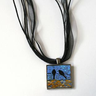 Art: Reflecting Birds on a Wire ~ Dana Marie Wearable Art by Artist Dana Marie