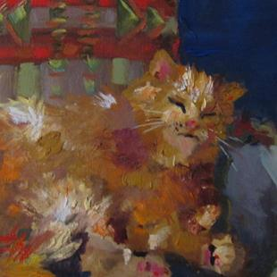 Art: Sleep Kitty-sold by Artist Delilah Smith