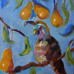 Art: A Partridge in a Pear Tree-sold by Artist Delilah Smith