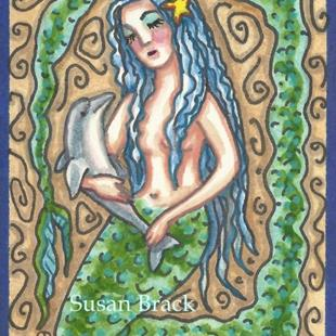 Art: ISLAND MERMAID by Artist Susan Brack