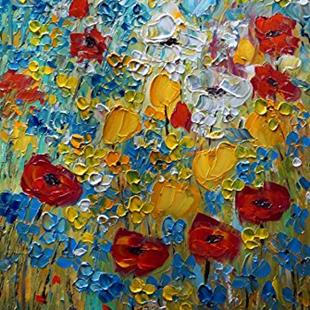 Art: Summer Prairie Flowers by Artist LUIZA VIZOLI