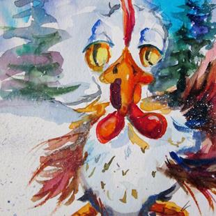 Art: Christmas Rooster No.2 by Artist Delilah Smith