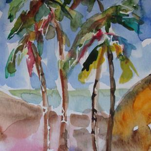Art: Swaying Palms by Artist Delilah Smith