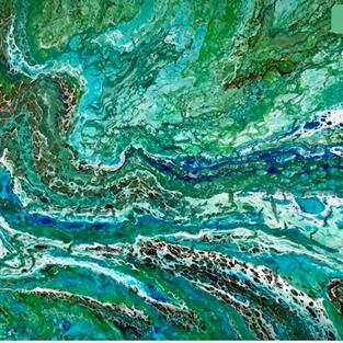 Art: Fluid  Abstract - sold by Artist Ulrike 'Ricky' Martin