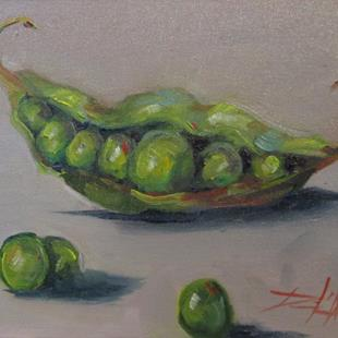 Art: Peas in a Pod by Artist Delilah Smith