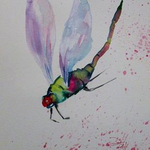 Art: Delightful Dragonfly by Artist Delilah Smith