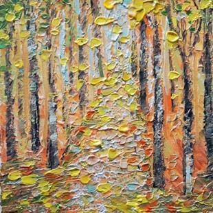 Art: BIRCH TREES by Artist LUIZA VIZOLI
