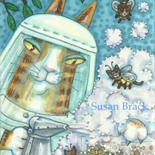 Art: HISS N' FITZ - BUMBLE CAT HONEY by Artist Susan Brack