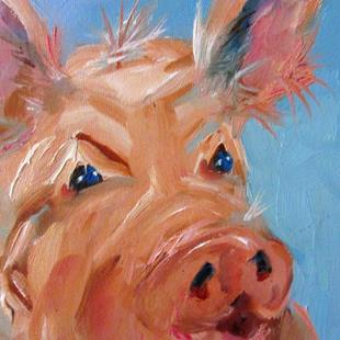Art: Pig No 5 by Artist Delilah Smith