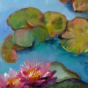 Art: Lily Pond No.5 by Artist Delilah Smith