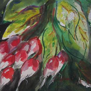 Art: Bunch of Radishes by Artist Delilah Smith