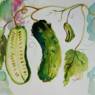 Art: Cucumber by Artist Delilah Smith