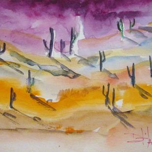 Art: Desert Sunset No.3 by Artist Delilah Smith