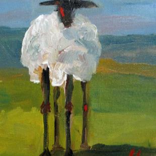 Art: Long Legged Lamb-sold by Artist Delilah Smith
