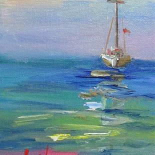 Art: Sailboat No.6 by Artist Delilah Smith