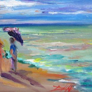 Art: Beach Walkers No.3 by Artist Delilah Smith