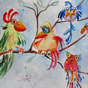 Art: Curious Birds by Artist Delilah Smith