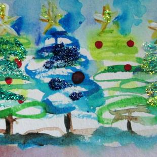 Art: Christmas Trees by Artist Delilah Smith